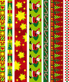 Christmas vector border Stock Photos