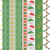 Christmas vector border Royalty Free Stock Image