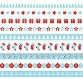 Christmas vector borders. Seamless endless ornament for washi tapes,. Christmas seamless vector borders. Endless ornament for washi tapes, wrapping paper Royalty Free Stock Photography