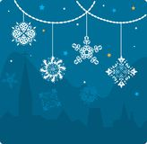Christmas vector card Royalty Free Stock Images