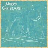 Christmas vector card Royalty Free Stock Photography