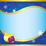 Christmas vector card with blue pattern Royalty Free Stock Photo