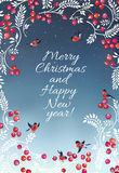 Christmas vector card Stock Images