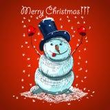 Christmas vector card design Royalty Free Stock Image