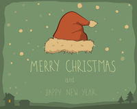Christmas vector card Royalty Free Stock Photos