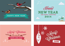 Christmas vector cards/ backgrounds Stock Images