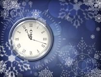 Christmas vector clock Royalty Free Stock Image