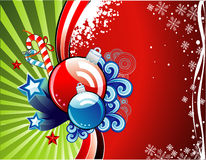 Christmas vector composition Stock Images