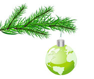 Christmas vector concept wiyh globe Royalty Free Stock Image