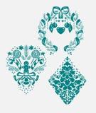 Christmas vector damask pattern design element decoration card royalty free illustration