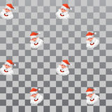 Christmas vector design element. Jolly Santa Claus pattern. Design clothes, backgrounds, gifts. Stock Photos