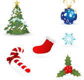 Christmas Vector Elements Collections Stock Image