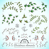 Christmas vector elements. Christmas vector floral elements for your design Stock Photos