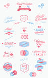 Christmas vector elements, labels and typography Stock Photo