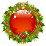 Christmas vector frame 14 Stock Photos