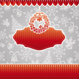 Christmas vector frame Royalty Free Stock Photos