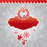Christmas vector frame Stock Photos