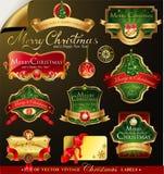 Christmas vector frames Stock Image