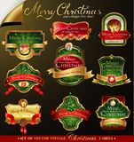 Christmas vector frames Stock Images
