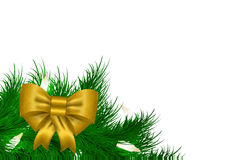 Christmas vector garland background Royalty Free Stock Image