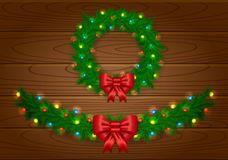 Christmas vector garland Stock Image
