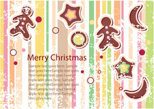 Christmas vector greeting card Stock Photo