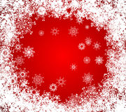 Christmas vector grunge background. frozen window stock image