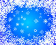 Christmas vector grunge background. frozen window Royalty Free Stock Photo