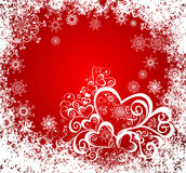 Christmas vector grunge background. Frozen window Stock Images