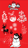 Christmas vector icon pack Royalty Free Stock Images