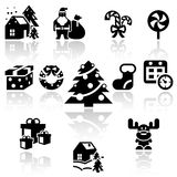 Christmas vector icon set. EPS 10. Stock Photo