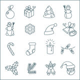 Christmas  vector icon set. Stock Photo