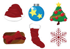Christmas vector icons Stock Images