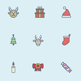 Christmas vector icons Royalty Free Stock Photo