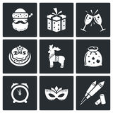 Christmas Vector Icons Set Royalty Free Stock Images