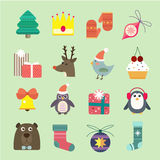 Christmas vector icons set Royalty Free Stock Photography