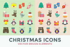 Christmas vector icons set Royalty Free Stock Photos