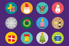 Christmas vector icons set Royalty Free Stock Photo
