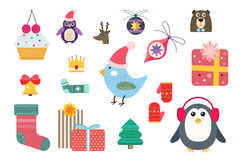 Christmas vector icons set Stock Photography