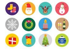 Christmas vector icons set Royalty Free Stock Photo