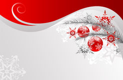 Christmas Vector Illustration. Abstract Christmas design with balls royalty free illustration