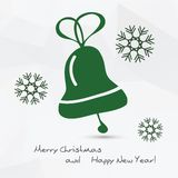 Christmas vector illustration - bell Stock Photo
