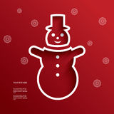 Christmas vector illustration with cutout 3d Stock Photos