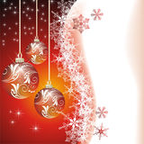 Christmas vector image with snowflakes Stock Photos