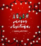 Christmas vector lettering illustration. Royalty Free Stock Photo