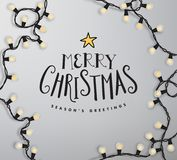 Christmas vector lettering illustration. Royalty Free Stock Images