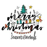 Christmas vector lettering illustration. Stock Photography