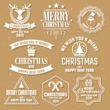 Christmas Vector Logo for banner royalty free stock image