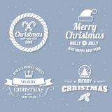 Christmas Vector Logo for banner stock photos