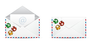 Christmas Vector Newsletter Icon Stock Photo